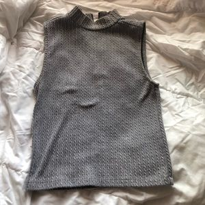 Forever 21 Grey Gray High Neck Top